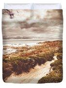 Pathways To Seaside Paradise Duvet Cover