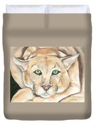 Patient Kitty Duvet Cover