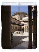Patio De Los Leones Nasrid Palaces Alhambra Granada Duvet Cover