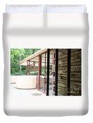 Patio Fallingwater  Duvet Cover