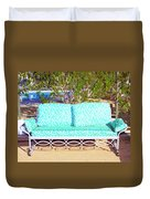 Patio Invitation Palm Springs Duvet Cover
