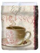 Patisserie Cafe Espresso Duvet Cover
