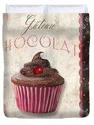 Patisserie Chocolate Cupcake Duvet Cover