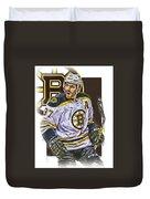Patrice Bergeron Boston Bruins Oil Art 1 Duvet Cover