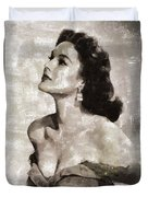 Patricia Medina, Vintage Actress Duvet Cover