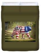 Patriot Bear Duvet Cover