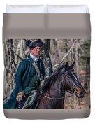 Patriot On Horse At Tower Park Battle Duvet Cover