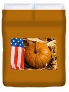 Patriotic American Pumpkin Duvet Cover