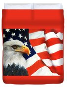 Patriotic Eagle And Flag Duvet Cover