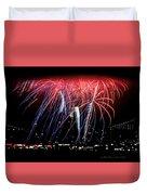 Patriotic Fireworks S F Bay Duvet Cover