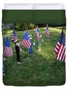 Patriotic Lawn Ornaments Represent Duvet Cover