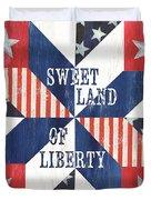 Patriotic Quilt 3 Duvet Cover