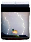Patriotic Storm - Poster Print Duvet Cover