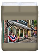 Patriotic Street Duvet Cover by Debbi Granruth