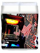 Patriotic Tavern Duvet Cover