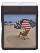 Patriotic Umbrella Duvet Cover