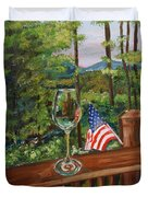 Star Spangled Wine - Fourth Of July - Blue Ridge Mountains Duvet Cover