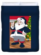 Patriots Santa Claus Duvet Cover