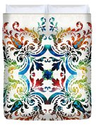 Pattern Art - Color Fusion Design 7 By Sharon Cummings Duvet Cover