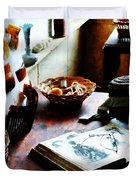 Pattern Book Duvet Cover by Susan Savad