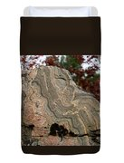 Pattern In A Gneiss Rock Duvet Cover