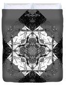 Pattern In Black White Duvet Cover by Deleas Kilgore