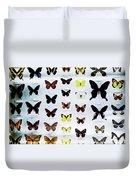 Pattern Made Out Of Many Different Butterfly Species Duvet Cover