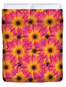 Pattern Of African Daisies Duvet Cover