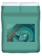 Paua Seabed By Reina Cottier Duvet Cover