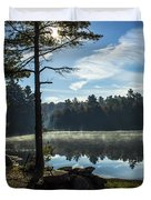 Pauper Lake Morning Duvet Cover