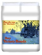 Pave The Way To Victory Duvet Cover by War Is Hell Store