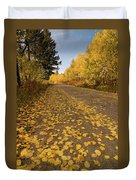 Paved In Gold Duvet Cover