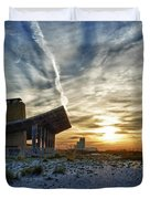 Pavillion And The Beach Duvet Cover by Michael Thomas