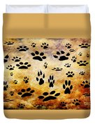 Paw Prints Duvet Cover by Andee Design