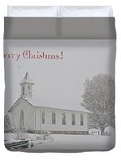Pawpaw Church Christmas Duvet Cover