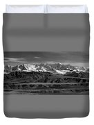 Paxson Lake Pano Duvet Cover