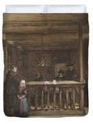 Payday, The Ships Room Right House Nieuw-loosdrecht, Furnished With Seventeenth-century Figures, Joh Duvet Cover