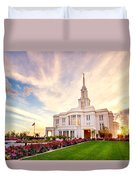 Payson Utah Temple Dramatic View Duvet Cover