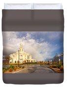Payson Utah Temple Rainbow Duvet Cover