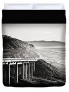 Pch Scenic In Black And White Duvet Cover