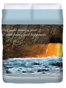Peace And Happiness Duvet Cover