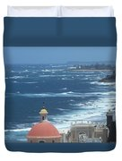 Peace By The Sea Duvet Cover