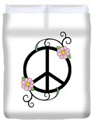 Peace And Daisies Duvet Cover