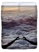 Peace - Digital Art Duvet Cover