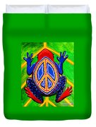 Peace Frog Too Duvet Cover