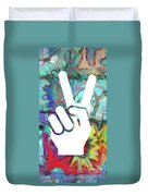 Peace Hand Sign 1  Duvet Cover