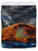 Peace In The Cleft In The Midst Of The Storm Duvet Cover
