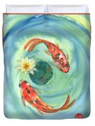 Peace Koi Duvet Cover