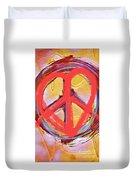 Peace Love  Art Duvet Cover
