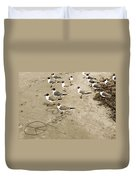 Peace On The Beach Duvet Cover